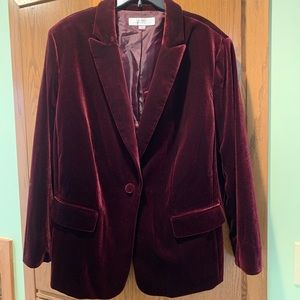 Merlot velvet suit jacket by Tahari 20W